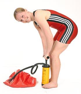 Pilatesboll pump